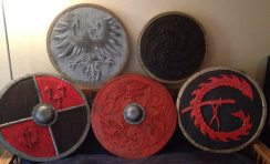 Base painted shields