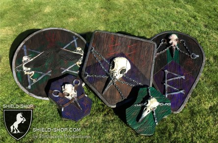 Group of 5 shields for the same Unit (team)