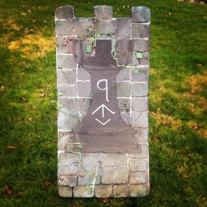 """Castle Wall """"Rook"""" shield"""