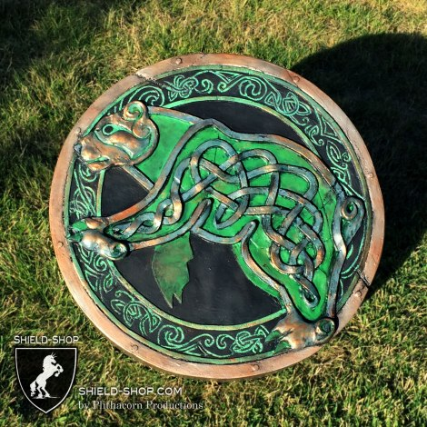 Celtic Bear punch shield for Alliance LARP