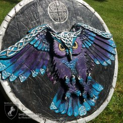Celtic owl side view