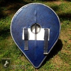 Varangian Guard inspired shield for Dagorhir. Back detail