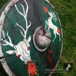 Flaming Stag shield side 2