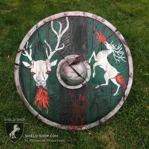 Flaming Stag Shield