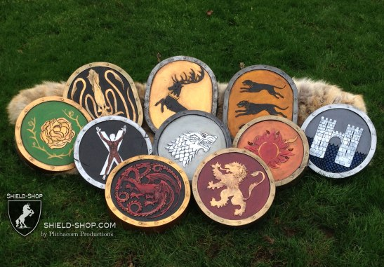 "Your favorite art brought to life, like these ""Game of Thrones"" themed punch shields"