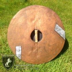 """leather"" detailed back of Horde Shield"