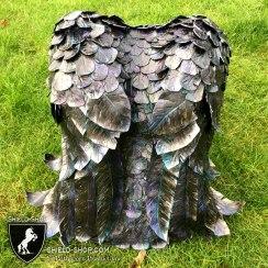 Battle Crow Back-shield close up