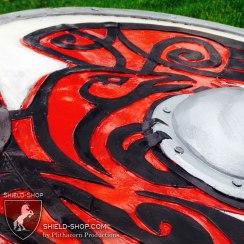 Norse Raven shield detail