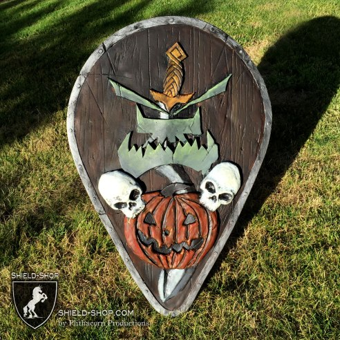 Urk-Hai Jack-O-Lantern teardrop shield
