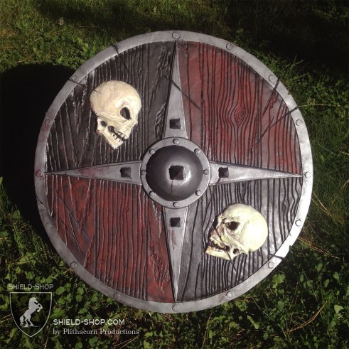Two Skulls shield for LARP and Cosplay