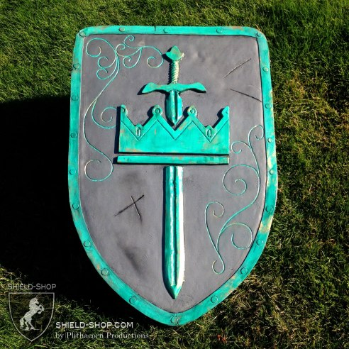 Crown and Sword Kite-Tower in steel and patina