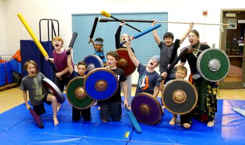 An 11-year-old Birthday Party from Shield-Shop's Team Foam Fighting